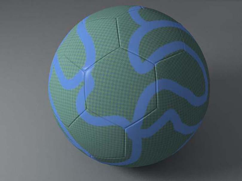 3DsMAX足球贴图制作案例效果图