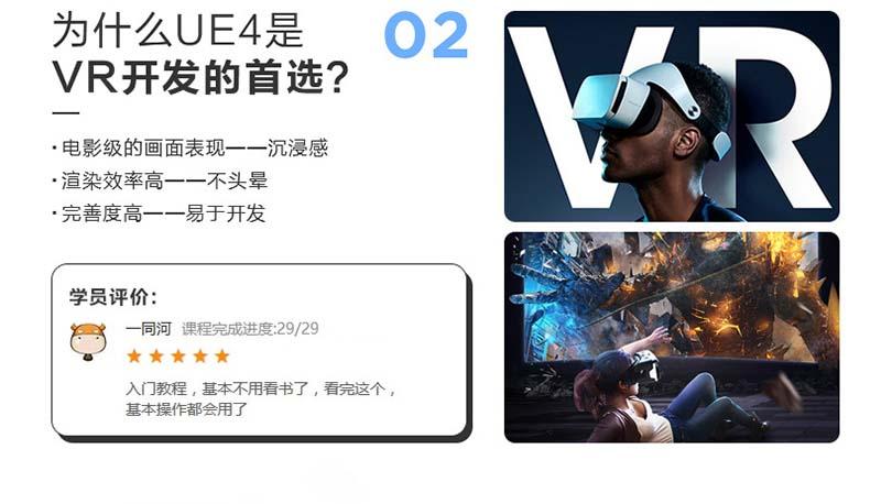 UE4蓝图制作FPS零基础教程特色之讲解为什么UE4是VR开发首选