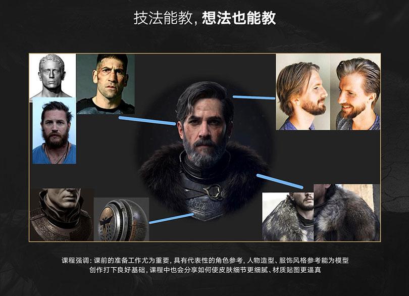 高精写实角色之流浪骑士全流程制作中文教程特色之技法能教,想法也能教