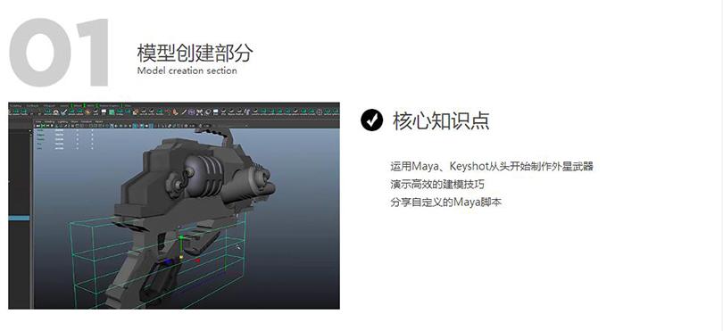 《异星战枪》写实3D游戏模型制作全流程教程核心知识点之模型创建部分