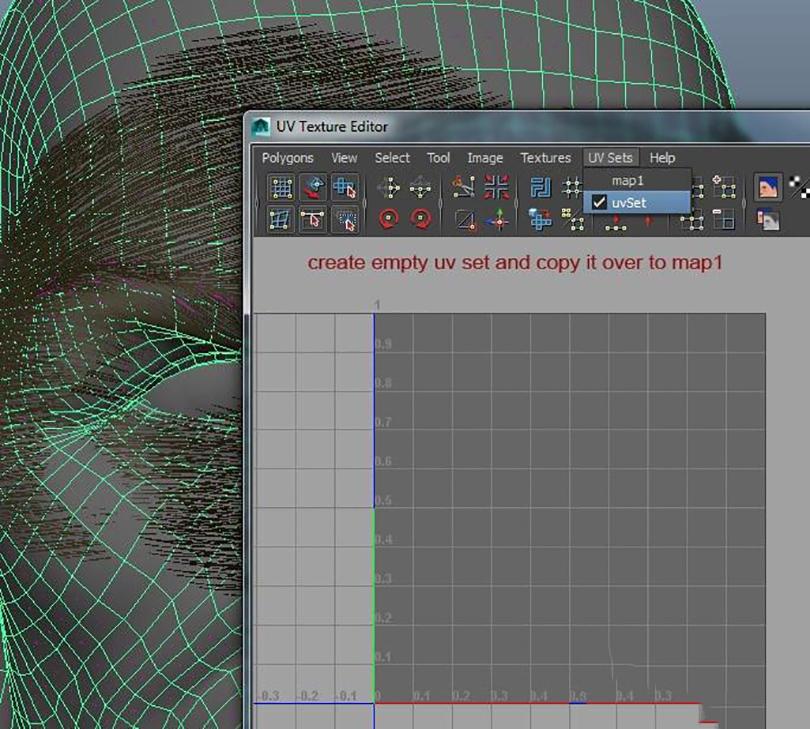Maya的xGen制作逼真的毛发步骤之创建一个新的uvSet