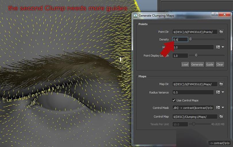 Maya的xGen制作逼真的毛发步骤之创建第二个Clump修改器