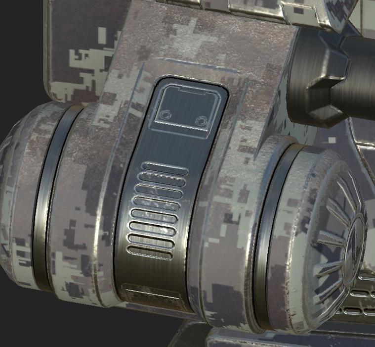 机甲战士之Substance Painter中烘培好了贴图作品
