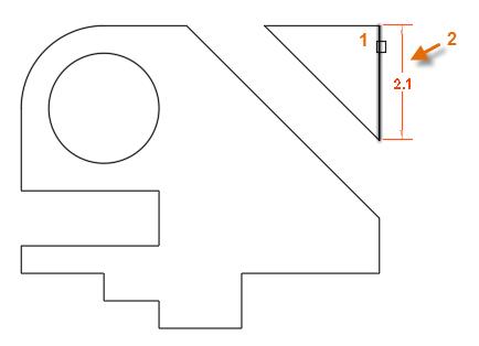 创建CAD线性标注之选择线段尺寸