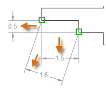 创建CAD线性标注之使用对象捕捉,然后单击所需尺寸线位置