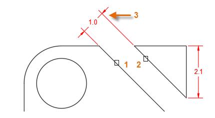 创建CAD线性标注斜插槽或者通道的宽度