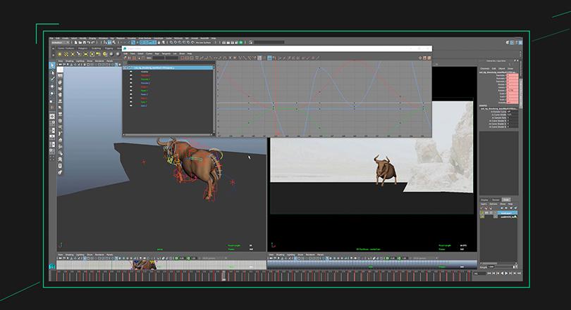 Maya跑步循环动作动画制作实例教程亮点之12个黄金动画原则的极致体现