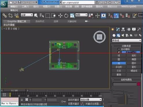 3DsMAX制作环境贴图步骤之在创建面板中选择图形