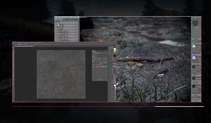 超逼真的自然场景创建实战案例核心亮点之Photoshop和Marmoset组合使用