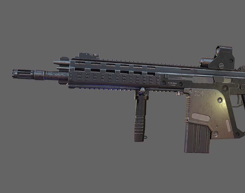 次世代游戏道具模型制作之G56突击步枪实战教程核心知识点