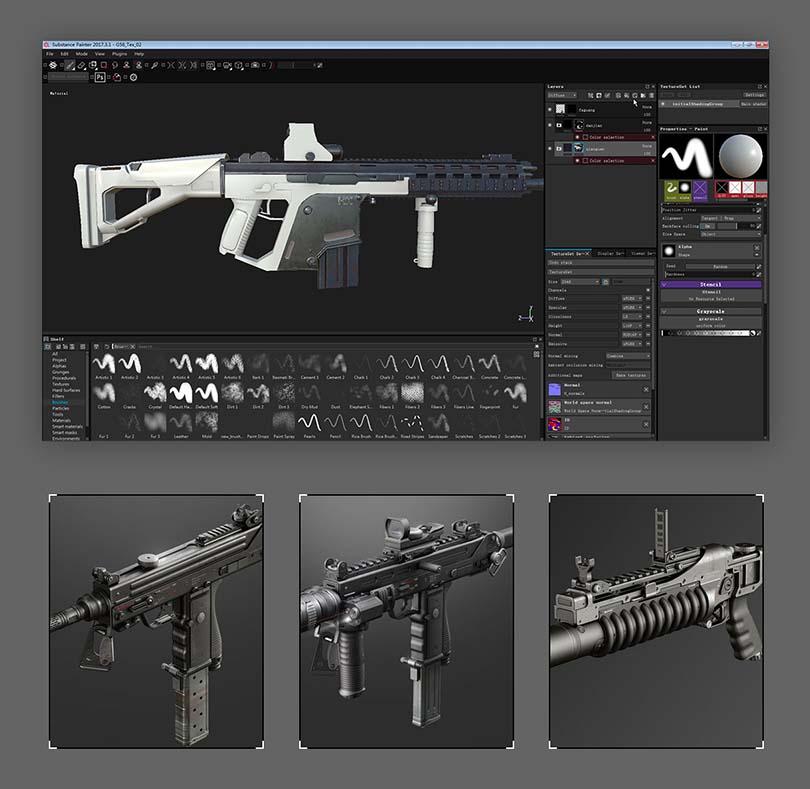 次世代游戏道具模型制作之G56突击步枪实战创建全流程