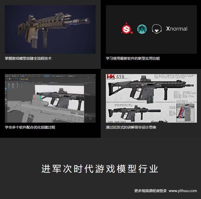 次世代游戏道具模型制作之G56突击步枪实战教程学习收获