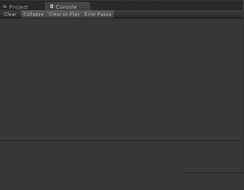 Unity动作编辑器各视图功能介绍之Console视图