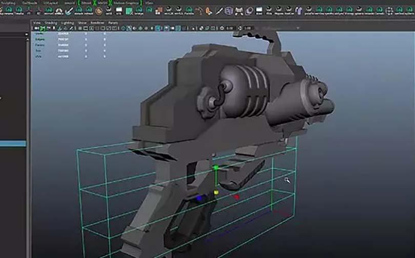 科幻枪械制作流程之开始精雕