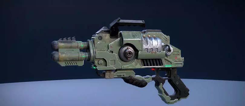 科幻枪械制作流程之渲染