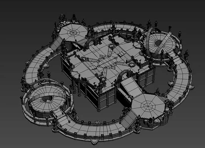 Maya中填充建模型场景