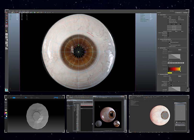 高逼真人体眼球模型创建全流程教程之软件使用