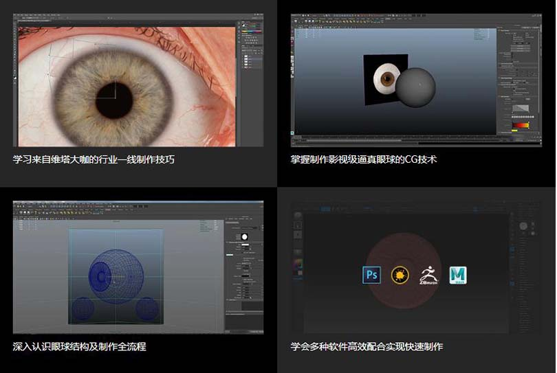高逼真人体眼球模型创建全流程教程学习收获