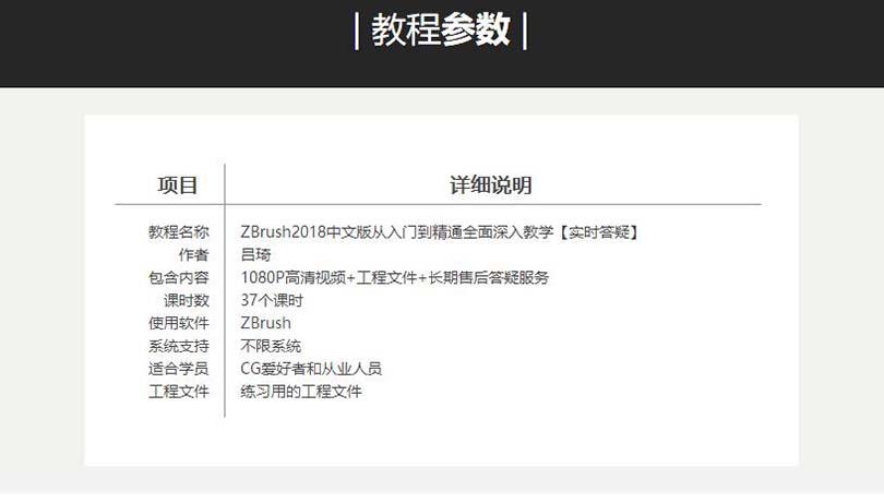 ZBrush 2018从入门到精通中文版案例教程参数