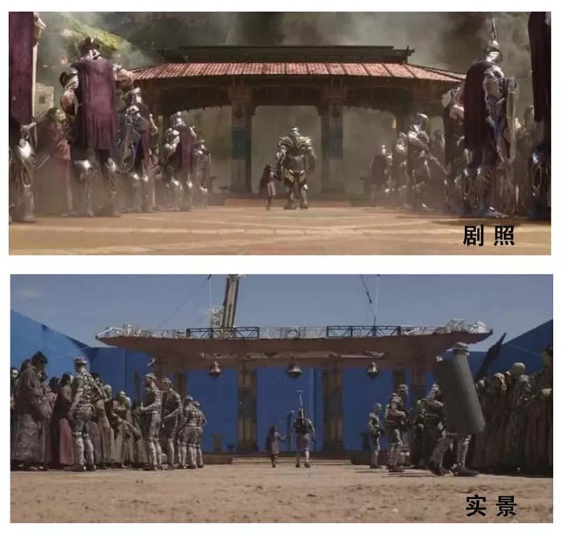 《复仇者联盟3 无限战争》场景CG实景与剧照对比图