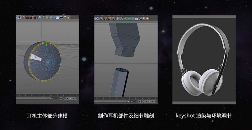 C4D+Keyshot工业产品设计之耳机实战案例教程之产品表现关键因素