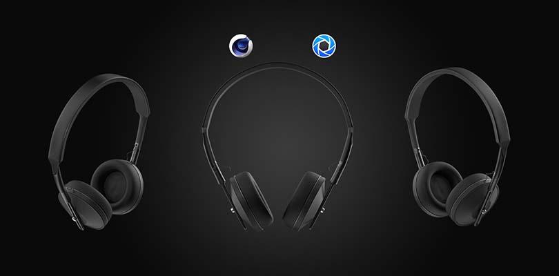 C4D+Keyshot工业产品设计之耳机案例图片