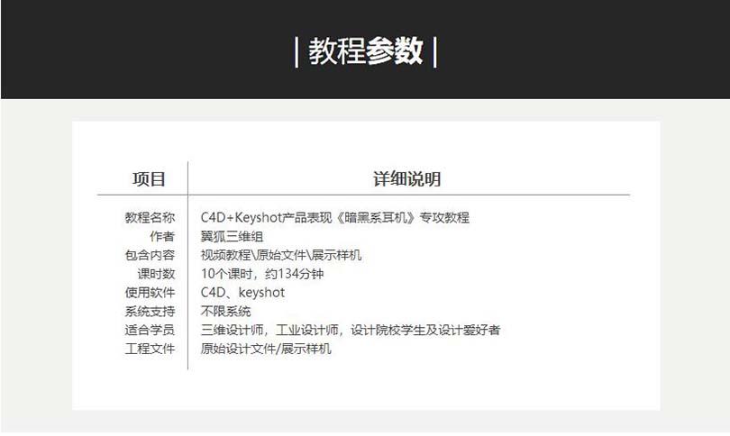 C4D+Keyshot工业产品设计之耳机实战案例教程参数
