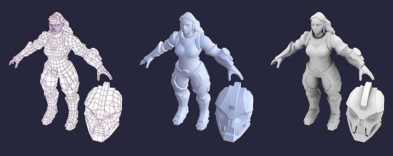硬表面角色制作流程之盔甲建模