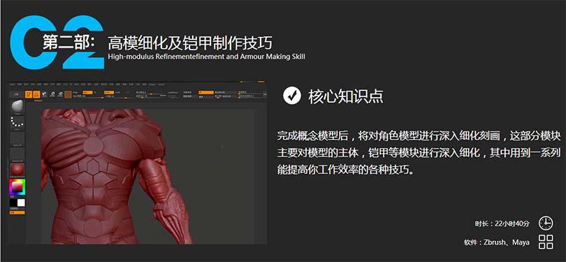 高精度硬表面影视角色《钢骨》全流程中文教程创建教程之铠甲制作技巧
