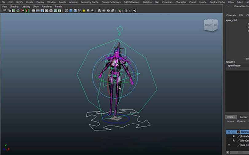 Maya角色绑定之暗黑魔女全流程教程概念