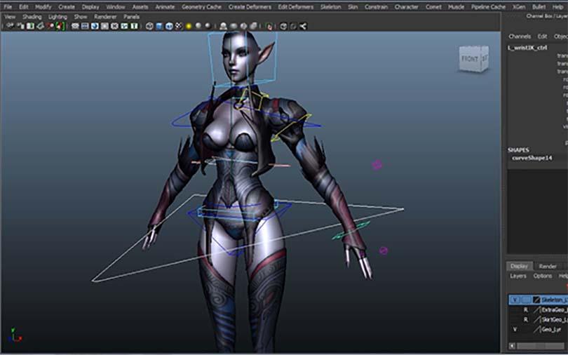 Maya角色绑定之暗黑魔女全流程之四肢绑定