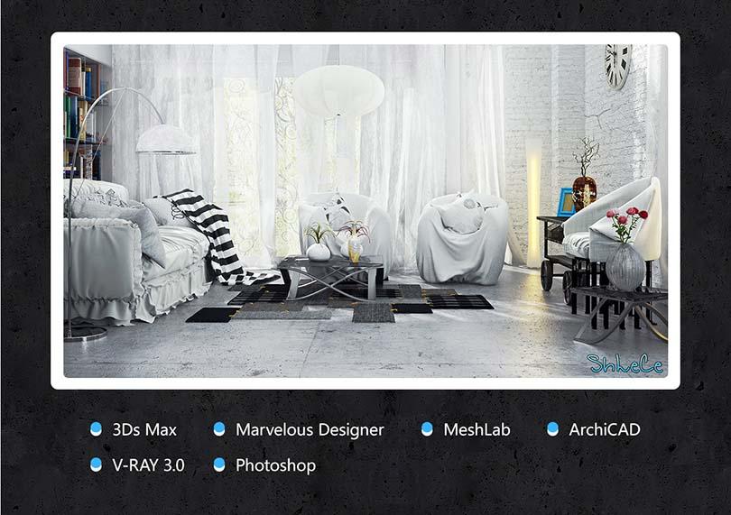 3dsMax室内场景设计实战案例教程介绍
