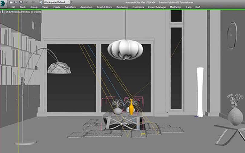 3dsMax室内场景制作步骤之照明与渲染