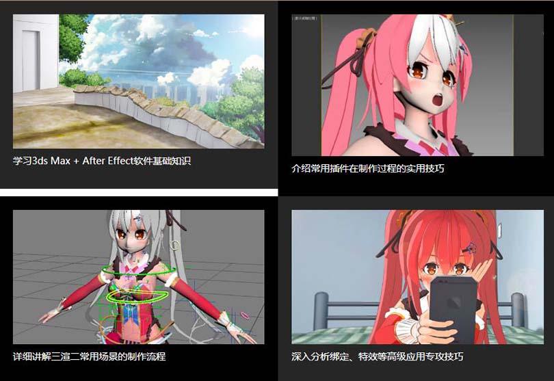 3ds Max三渲二动漫场景制作实战案例教程学习收获