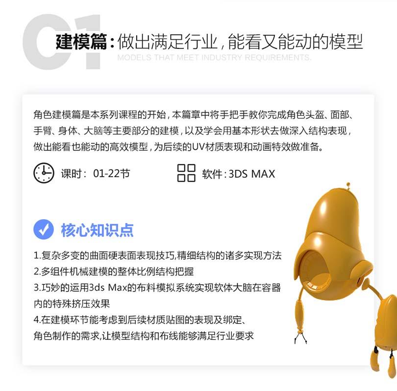 3ds Max皮克斯类动画角色入门级创作建模篇