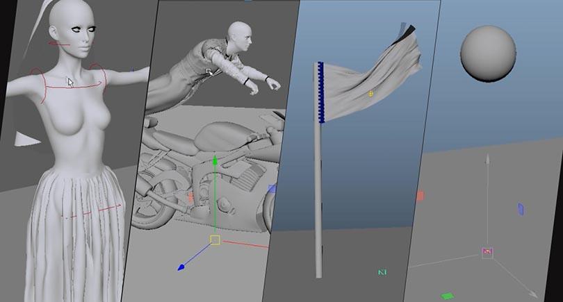 Maya Ncloth布料模拟从入门到精通实战案例教程介绍