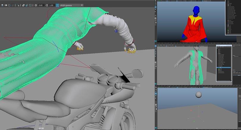 Maya Ncloth布料模拟从入门到精通实战案例教程深度剖析