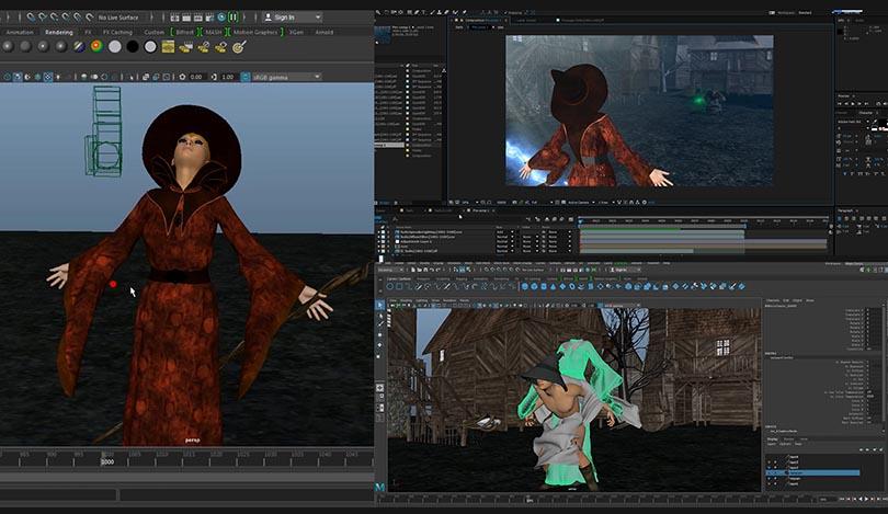 Maya Ncloth布料模拟从入门到精通实战案例教程实操