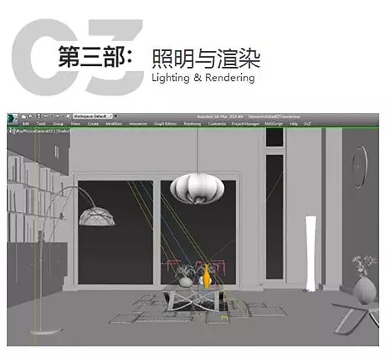 Loft工业风室内场景设计教学教程之照明与渲染