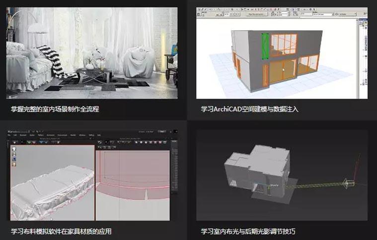 Loft工业风室内场景设计教学教程学习收获