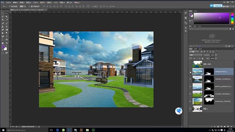 Photoshop高手进阶实战案例教程解析之景观效果图