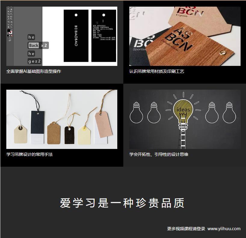 Illustrator设计服饰类吊牌教程收获