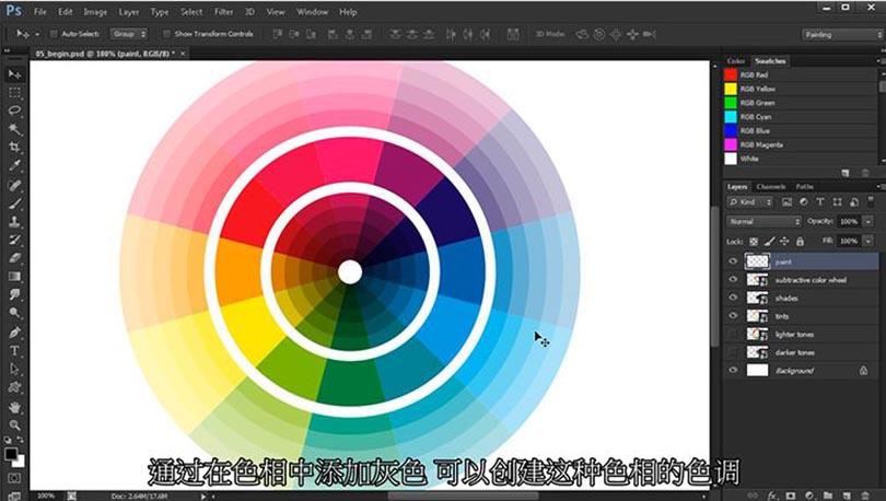 PS色彩理论知识基础案例教程解析之理解颜色的色彩