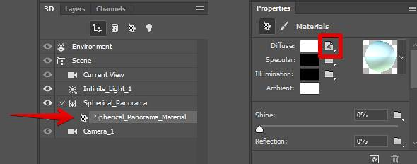 PS 360VR全景制作步骤之编辑纹理