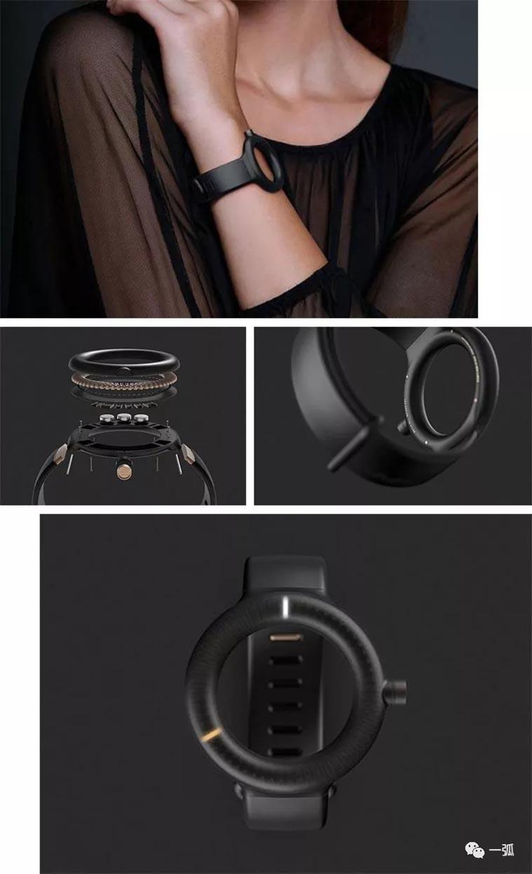 反传统设计的无脸手表