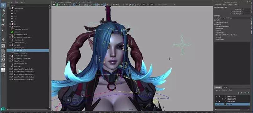 Maya角色绑定之暗黑魔女全流程实战中文教程之IK与FK系统转换
