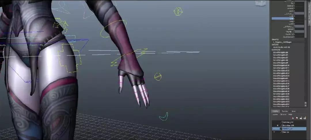 Maya角色绑定之暗黑魔女全流程实战中文教程之驱动控制