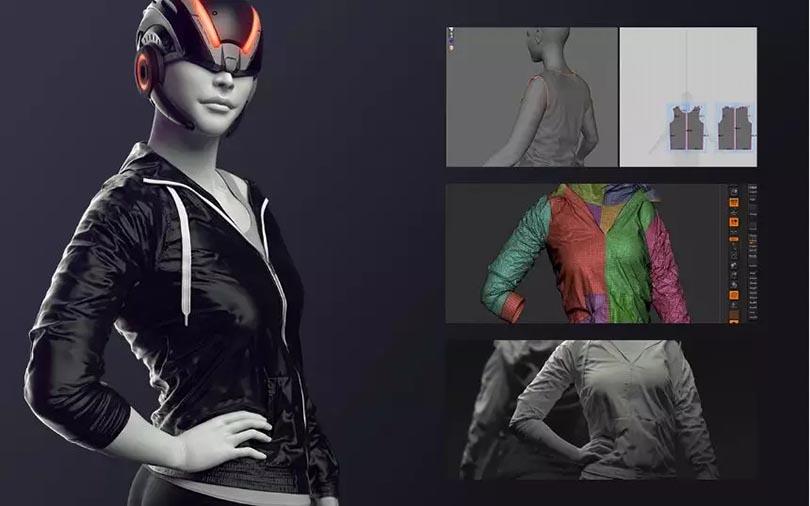 ZB+MD三维角色服装模型制作教程介绍