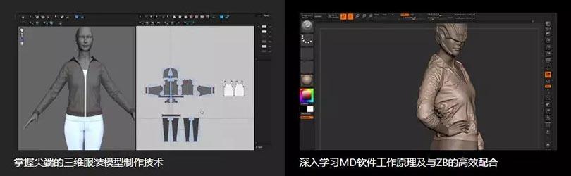 ZB+MD三维角色服装模型制作教程介绍收获
