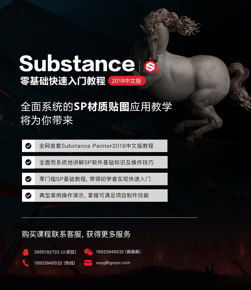 Substance Painter2018基础入门必备自学中文版案例教程介绍
